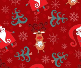 2018 christmas seamless pattern design vectors set 10