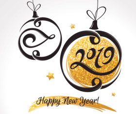 2019 new year decor background vector