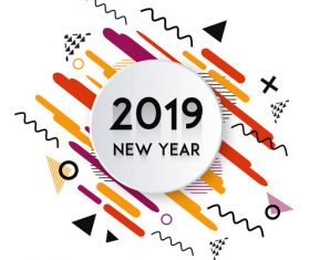2019 new year fashion background vectors