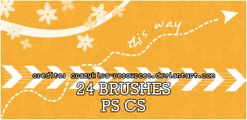 24 Kind Mixed Photoshop Brushes