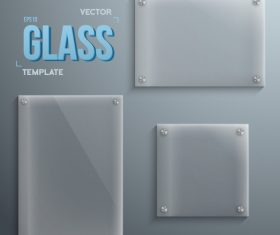 3 Kind glass plate vector template