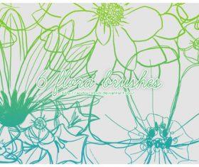 6 Flora Photoshop Brushes