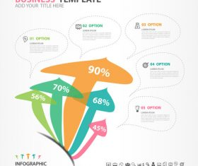 Abstract arrow infographic template vectors 01