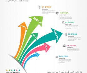 Abstract arrow infographic template vectors 04