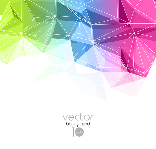 Abstract geometric polygon background vector 02