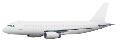 Aircraft ligne template vectors 02