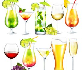 Alcohol drinks vector material