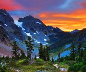 Alps scenery seasons Stock Photo 01