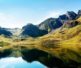 Alps scenery seasons Stock Photo 02