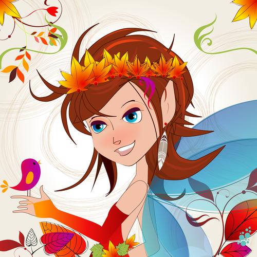 Autumn fairy export vector