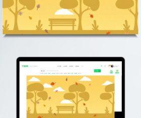 Autumn park background vector illustration design