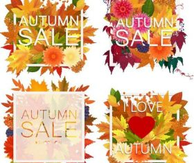 Autumn sale background illustration vector