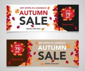 Autumn sale banners template design vector 04