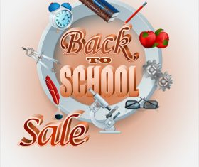 Back to school sale background vectors material