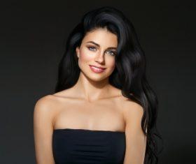 Beautiful brunette beauty model Stock Photo 09