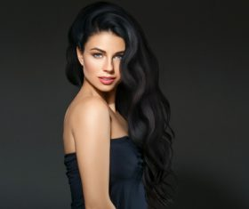 Beautiful brunette beauty model Stock Photo 10
