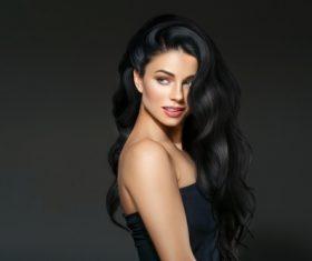 Beautiful brunette beauty model Stock Photo 11