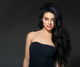Beautiful brunette beauty model Stock Photo 12