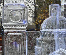 Beautiful ice sculpture art Stock Photo 08