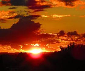 Beautiful view at dusk Stock Photo 02