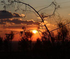 Beautiful view at dusk Stock Photo 04