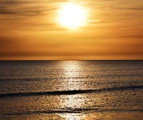 Beautiful view at dusk Stock Photo 06