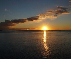 Beautiful view at dusk Stock Photo 08