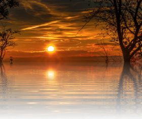 Beautiful view at dusk Stock Photo 09
