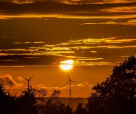 Beautiful view at dusk Stock Photo 10