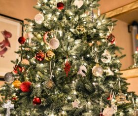 Beautifully decorated Christmas tree Stock Photo 03