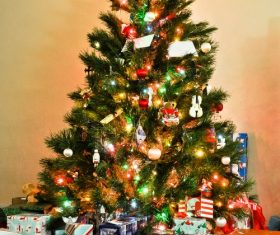 Beautifully decorated Christmas tree Stock Photo 04