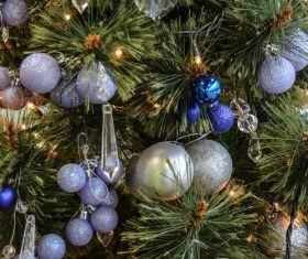 Beautifully decorated Christmas tree Stock Photo 07