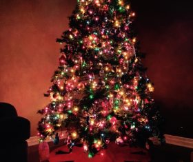 Beautifully decorated Christmas tree Stock Photo 08