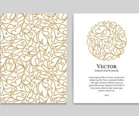 Beige decorative pattern cover template vector 02