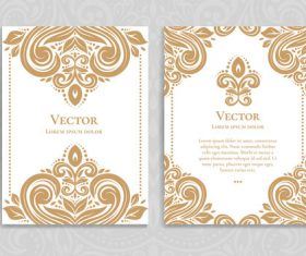 Beige decorative pattern cover template vector 03