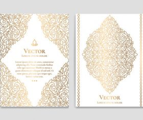 Beige decorative pattern cover template vector 04