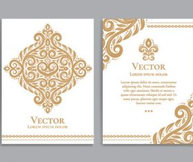 Beige decorative pattern cover template vector 05