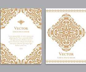 Beige decorative pattern cover template vector 06