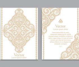 Beige decorative pattern cover template vector 07