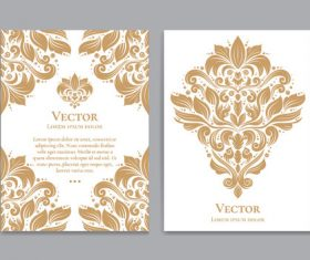 Beige decorative pattern cover template vector 08