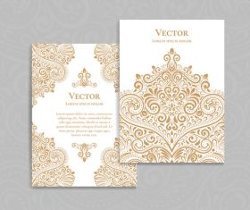 Beige decorative pattern cover template vector 09