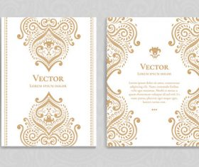 Beige decorative pattern cover template vector 10