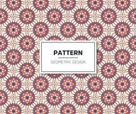 Beige geometric seamless pattern vector 03