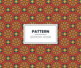 Beige geometric seamless pattern vector 05