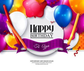 Birthday celebration balloon vector material 01