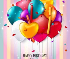 Birthday celebration balloon vector material 02