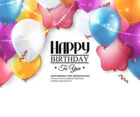 Birthday celebration balloon vector material 03