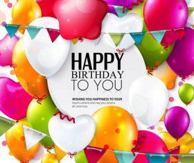 Birthday celebration balloon vector material 04