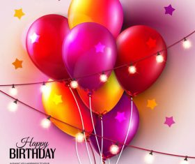 Birthday celebration balloon vector material 05