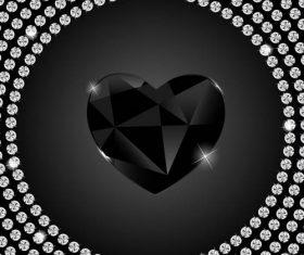 Black diamond pattern vector material 05